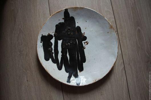 """Тарелки ручной работы. Ярмарка Мастеров - ручная работа. Купить Тарелка """"Черный разлив"""". Handmade. Чёрно-белый, Тарелка декоративная"""