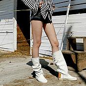 Обувь ручной работы handmade. Livemaster - original item FIORE ice / Summer boots with large perforations handmade. Handmade.