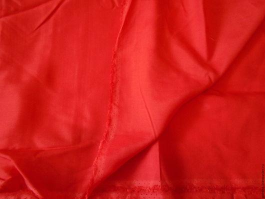 Шитье ручной работы. Ярмарка Мастеров - ручная работа. Купить Отрез подкладочной ткани. Красная ткань. Винтаж.. Handmade.