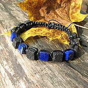Украшения handmade. Livemaster - original item Shambala lapis lazuli and lava (basalt) bracelet
