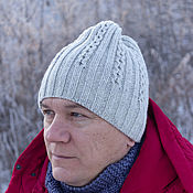 Аксессуары handmade. Livemaster - original item Men`s knitted hat, unisex beanie hat. Handmade.