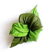 Украшения handmade. Livemaster - original item Automatic hair clip flower for hair Greenery green light green. Handmade.