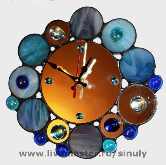 Часы для дома ручной работы. Ярмарка Мастеров - ручная работа. Купить Зеркальные часы. Handmade. Часы необычные, часы стеклянные