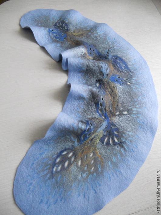 Шарфы и шарфики ручной работы. Ярмарка Мастеров - ручная работа. Купить Голубая горжетка. Handmade. Голубой, Аксессуары handmade