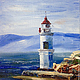 Tokarevskiy lighthouse, g. Vladivostok, Russia, oil painting, Pictures, Moscow,  Фото №1