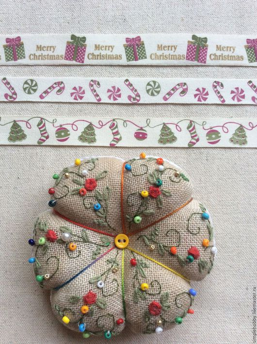 """Шитье ручной работы. Ярмарка Мастеров - ручная работа. Купить Лента хлопковая """"Новогодние"""", 3 вида. Handmade. Лента"""