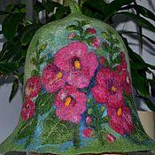"""Для дома и интерьера ручной работы. Ярмарка Мастеров - ручная работа банная шапка """" мальва """". Handmade."""