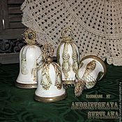 Сувениры и подарки ручной работы. Ярмарка Мастеров - ручная работа Колокольчики большие Столовое серебро. Handmade.