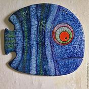 Картины и панно ручной работы. Ярмарка Мастеров - ручная работа Керамическое панно «Рыба». Handmade.