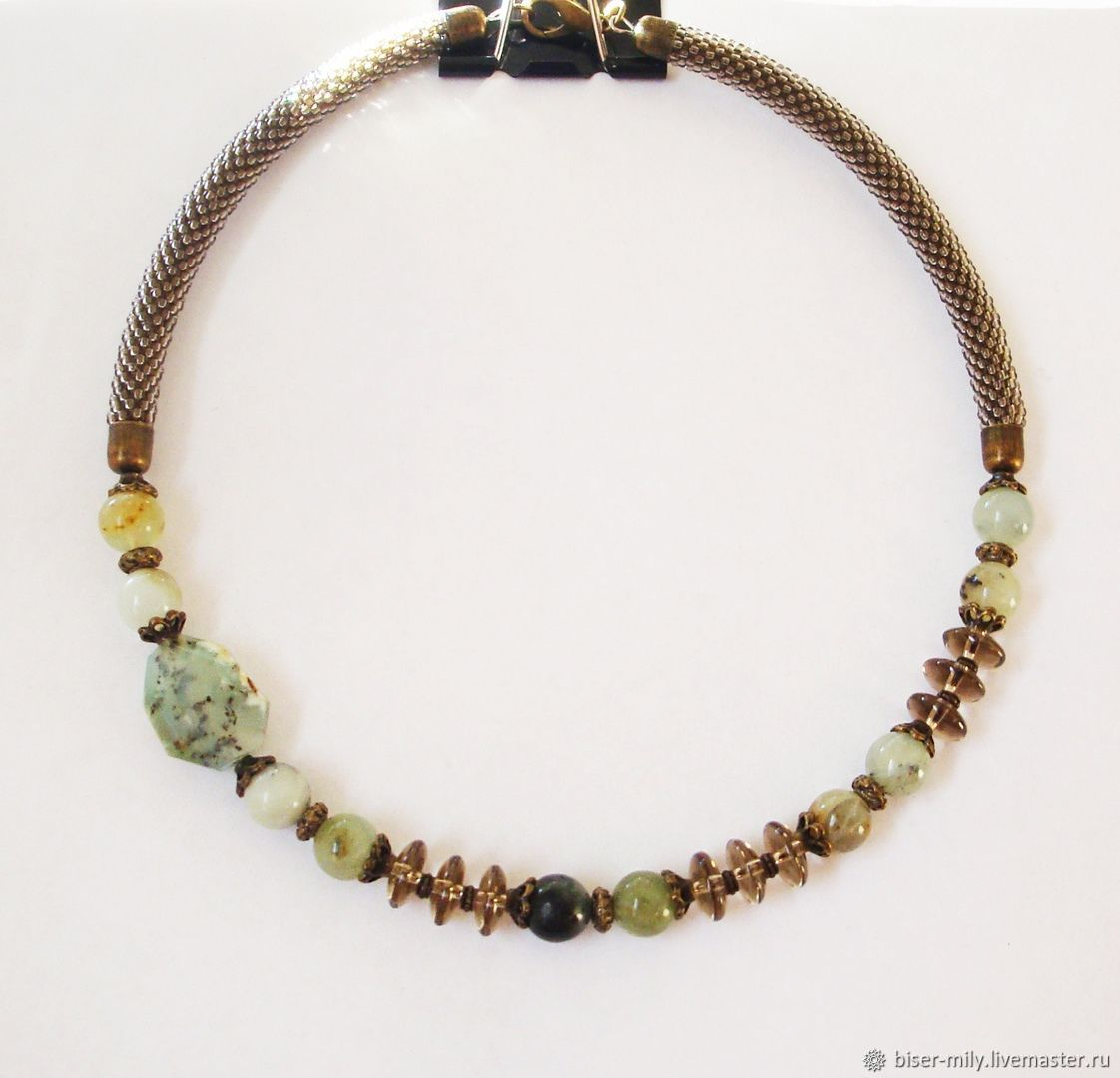 Necklace made of natural stones and the Secret of the fern, Necklace, Abakan,  Фото №1