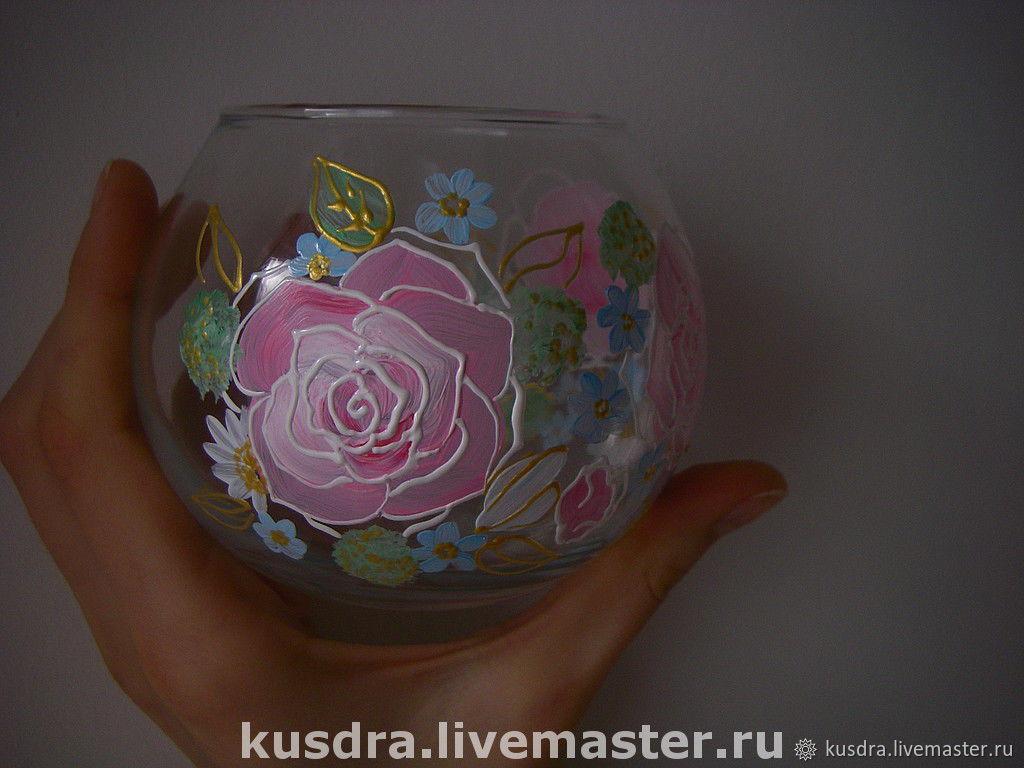 "Подсвечники-вазочки ""Розы"""