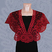 Аксессуары handmade. Livemaster - original item Cape FLOWER VALLEY vyatskoe Vologda lace. Handmade.