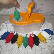 Мягкие игрушки ручной работы. Ярмарка Мастеров - ручная работа Мышки в норке. Handmade.