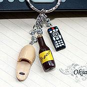 Подарки к праздникам handmade. Livemaster - original item Keychain miniature Male joy. Handmade.