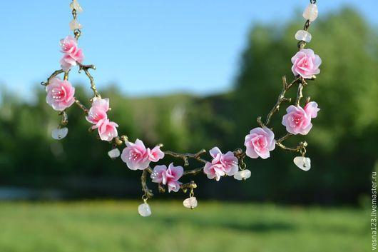 """Колье, бусы ручной работы. Ярмарка Мастеров - ручная работа. Купить Колье """"Весна всегда!"""". Handmade. Розовый, красивое украшение"""
