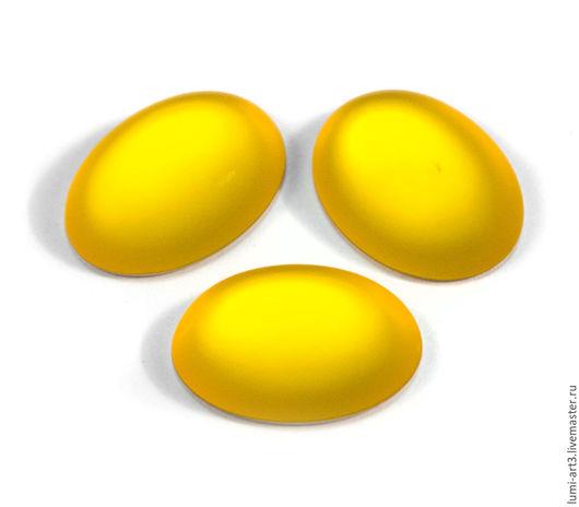 Для украшений ручной работы. Ярмарка Мастеров - ручная работа. Купить Lunasoft 18.5x13.5мм Lemon Акриловые кабошоны Лунасофт Овал. Handmade.