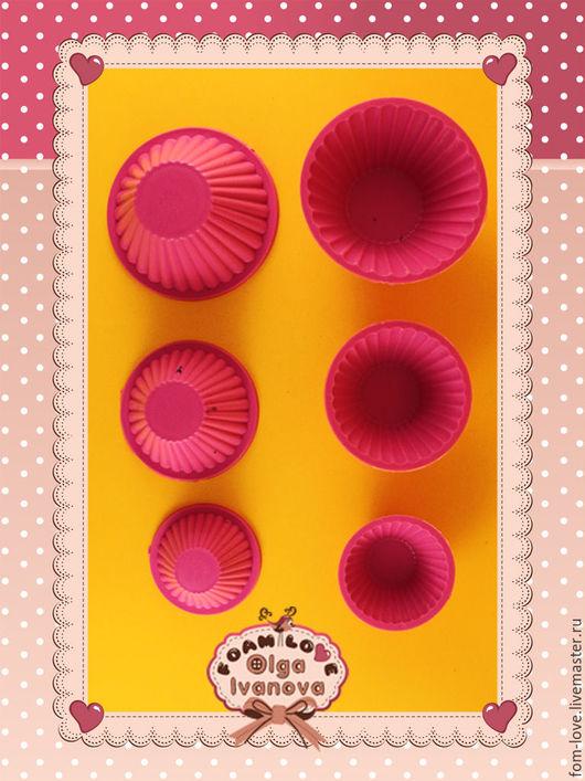 Другие виды рукоделия ручной работы. Ярмарка Мастеров - ручная работа. Купить Двухсторонние молды № 31136 - кекс 3 шт.. Handmade.