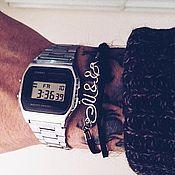 Подарки к праздникам ручной работы. Ярмарка Мастеров - ручная работа Браслет с инициалами пары. Первые буквы имен на браслете. Посеребрение. Handmade.