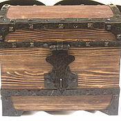 Для дома и интерьера handmade. Livemaster - original item A chest forged pine. Handmade.