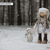 Куклы и игрушки ручной работы. Ярмарка Мастеров - ручная работа куколка Azura &  мишка Bona. Handmade.