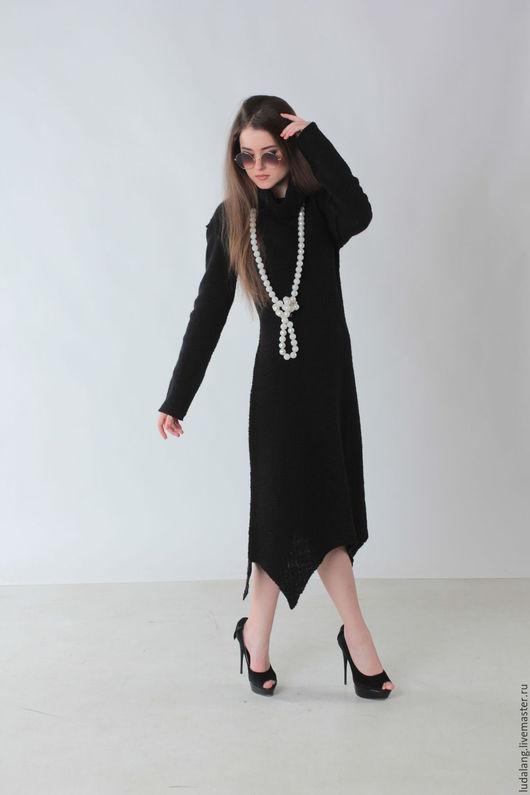 Платья ручной работы. Ярмарка Мастеров - ручная работа. Купить Платье трикотажное Стиль и шик. Handmade. Черный, черное платье