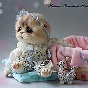 """Куклы и игрушки ручной работы. Ярмарка Мастеров - ручная работа Валяная кошка """"Бася"""". Handmade."""