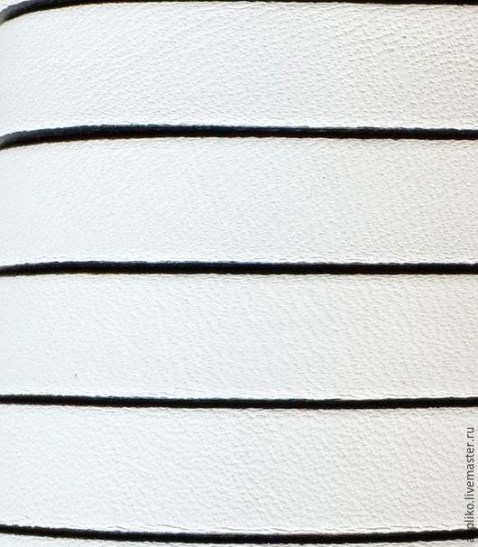 Для украшений ручной работы. Ярмарка Мастеров - ручная работа. Купить КОЖАНЫЙ ШНУР  10х2мм. БЕЛЫЙ. Handmade. Кожаный шнур