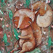 Картины и панно ручной работы. Ярмарка Мастеров - ручная работа Белочка (репродукция). Handmade.