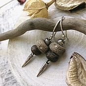 Украшения handmade. Livemaster - original item Silver and ceramic earrings. Handmade.