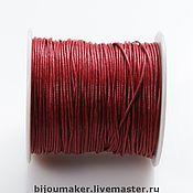 Материалы для творчества ручной работы. Ярмарка Мастеров - ручная работа Шнур вощеный 1мм бордовый. Handmade.