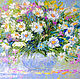 Painting daisies 'Bright Expectations' oil painting of daisies, Pictures, Voronezh,  Фото №1