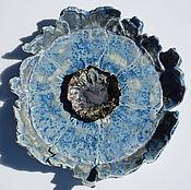 """Посуда ручной работы. Ярмарка Мастеров - ручная работа Голубой цветок"""".Блюдо керамическое.. Handmade."""