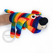 Куклы и игрушки handmade. Livemaster - original item Knitted dog. Toy on hand. Handmade.