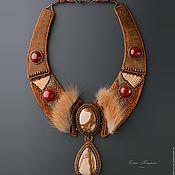 Украшения handmade. Livemaster - original item brown. red. Necklace Sayan. brown tones.. Handmade.