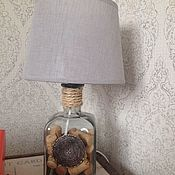 Для дома и интерьера ручной работы. Ярмарка Мастеров - ручная работа Лампа из бутыли. Handmade.