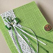 Свадебный салон ручной работы. Ярмарка Мастеров - ручная работа папка для свадебного свидетельства лаконичная с кружевом. Handmade.