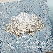 Свадебный салон ручной работы. Ярмарка Мастеров - ручная работа Гостевая книга пожеланий нежно-голубая. Handmade.
