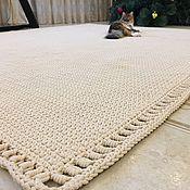 Для дома и интерьера ручной работы. Ярмарка Мастеров - ручная работа Вязаный палас  2м на 2,30м. Handmade.