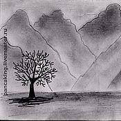 """Открытки ручной работы. Ярмарка Мастеров - ручная работа Почтовая открытка """"Горы в карандаше"""". Handmade."""