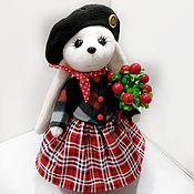 Куклы и игрушки handmade. Livemaster - original item Toy bunny in a beret. Handmade.
