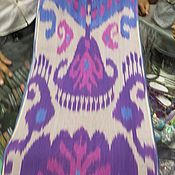 Материалы для творчества handmade. Livemaster - original item Uzbek dense cotton ikat hand weaving. FT027. Handmade.