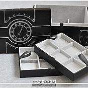 Для дома и интерьера ручной работы. Ярмарка Мастеров - ручная работа Шкатулка для карманных часов трехъярусная. Handmade.
