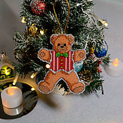 Подарки к праздникам handmade. Livemaster - original item Christmas toy Bear. Handmade.