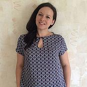 Одежда ручной работы. Ярмарка Мастеров - ручная работа Блуза с вырезом-капелька. Handmade.