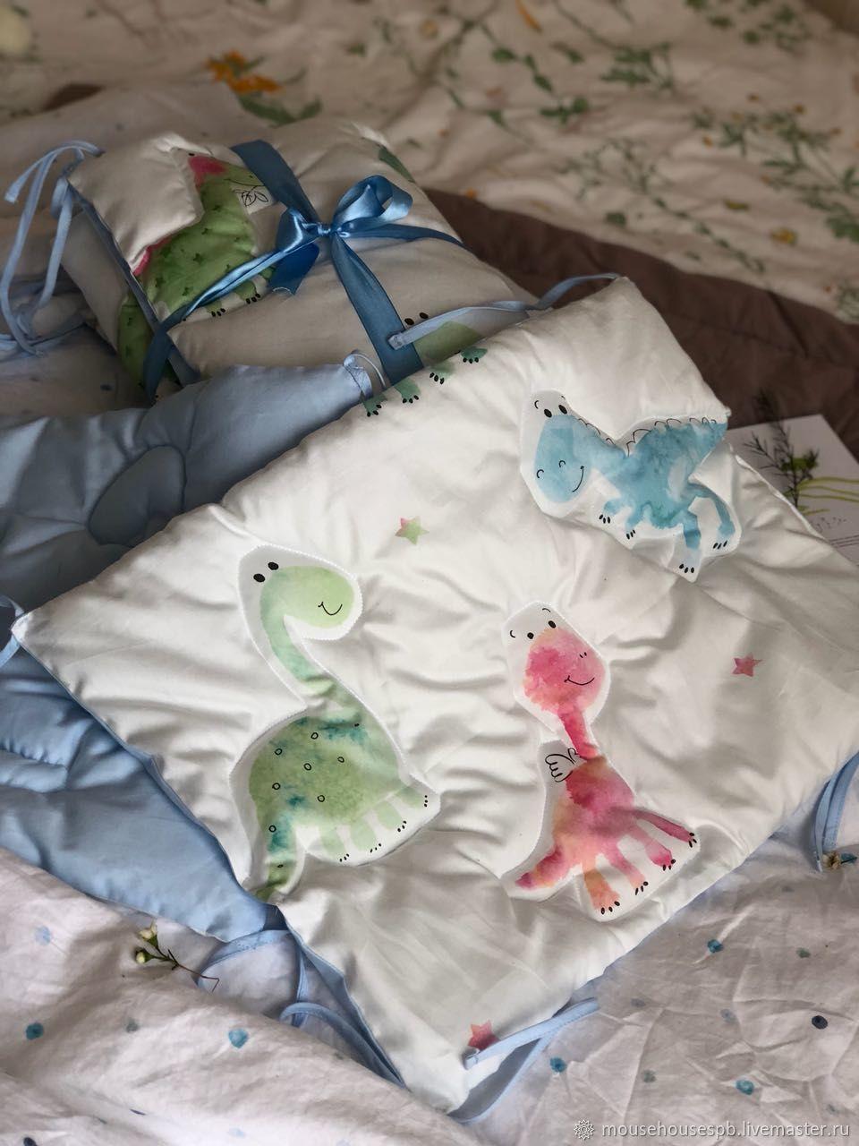 Бортики в кроватку Динозаврики, Текстиль, Санкт-Петербург, Фото №1