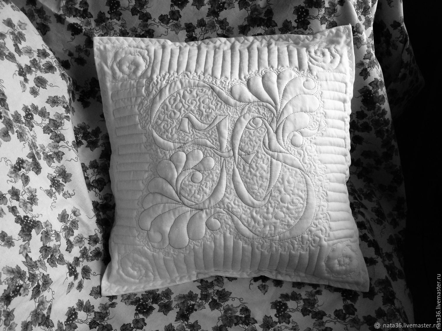 """Quilted pillowcase """"Your Name"""", Pillow, Yaroslavl,  Фото №1"""