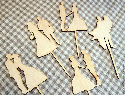 Декупаж и роспись ручной работы. Ярмарка Мастеров - ручная работа. Купить Свадебные силуэты для торта и букетов. Handmade. Белый, СИЛУЭТЫ