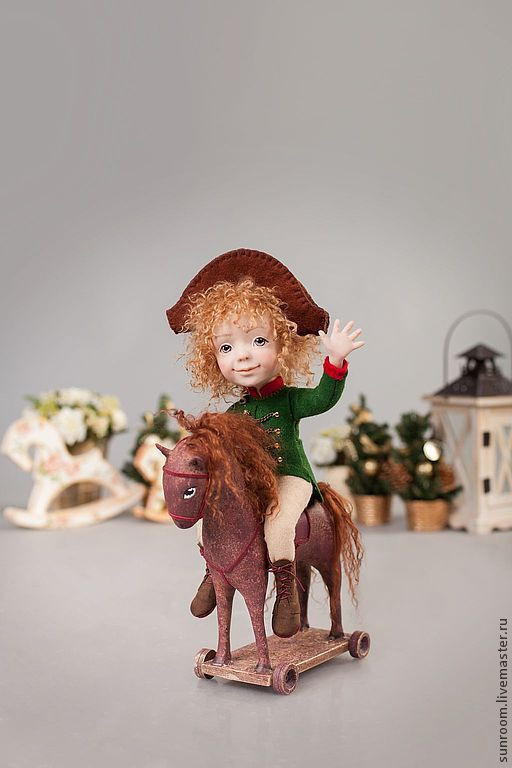 Коллекционные куклы ручной работы. Ярмарка Мастеров - ручная работа. Купить Наполеончик. Handmade. Коричневый, серый, кучерявый, Наполеон, рождество