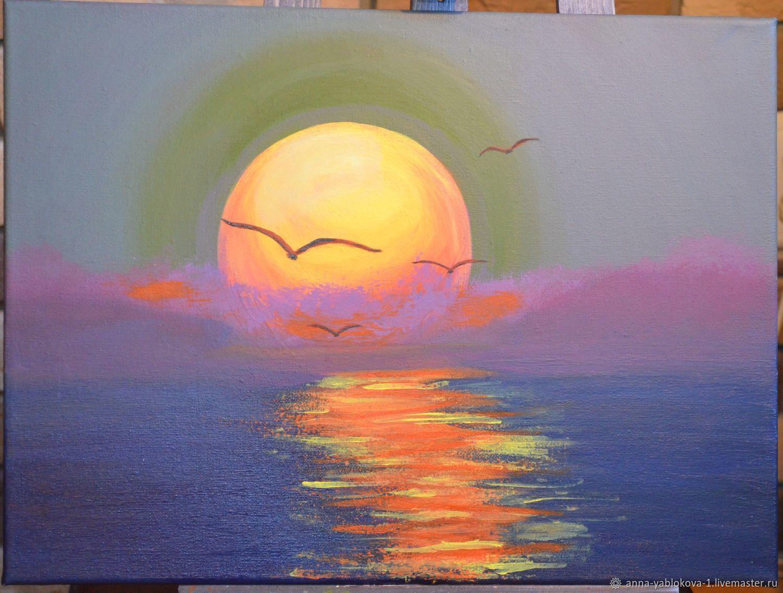 Восход над морем, Картины, Ставрополь,  Фото №1