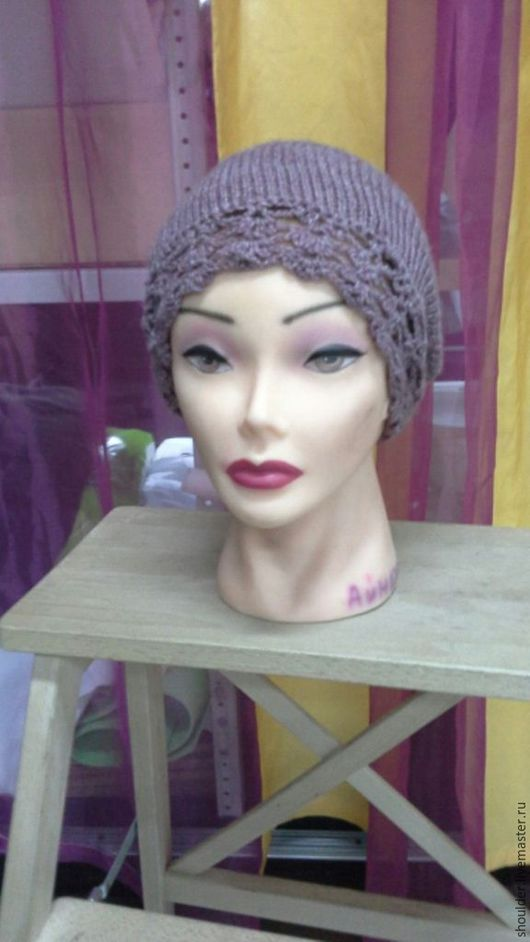 Шапки ручной работы. Ярмарка Мастеров - ручная работа. Купить шапка бордовая с кантом. Handmade. Бордовый, шапка женская